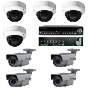8 kamerás HD-SDI megfigyelő rendszer
