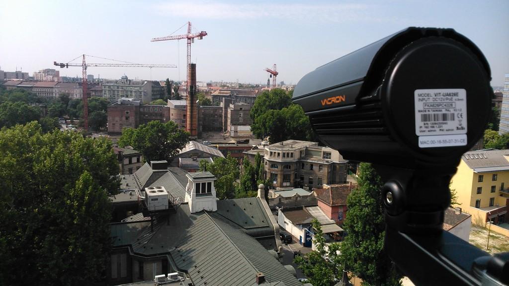 Vacron IP kamera a háztetőn