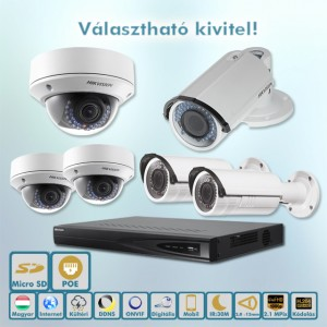 Hikvision Házőrző 2,1MP ip kamera rendszer