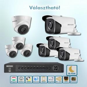 Sötét harcos Hikvision 3MP Full HD HD-TVI kamera rendszer