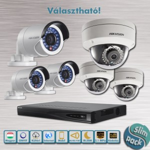 SLIM PACK – Hikvision belépő kültéri 2,1MP Full HD IP kamera rendszer