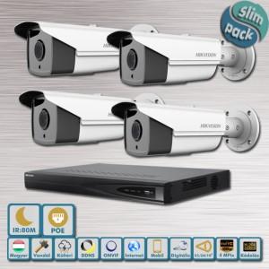 SLIM Pack Hikvision POE Messzelátó ip kamera szett