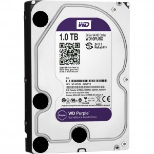"Western Digital HDD WD10PURX 1TB 3,5"" Desktop 5400rpm, 64 MB puffer, SATA3 - Purple"