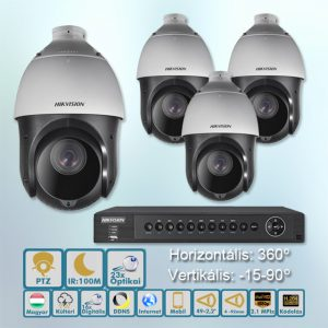 Góliát 2,1MP Speed dome IR:100m HD-TVI kamera rendszer