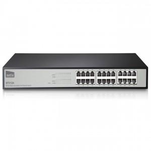 Netis ST3124 Switch (10/100Mbps, 24 port, fém házas, rackbe szerelhető)
