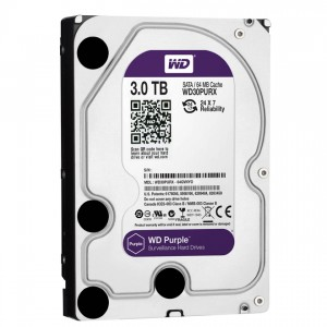 "Western Digital HDD WD30PURX 3TB 3,5"" Desktop 5400rpm, 64 MB puffer, SATA3 - Purple"