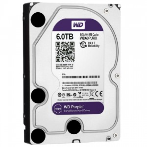 "Western Digital HDD WD60PURX 6TB 3,5"" Desktop 5400rpm, 64 MB puffer, SATA3 - Purple"