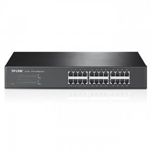 TP-Link TL-SF1024 Switch (10/100Mbps, 24 port, fém házas, rackbe szerelhető)