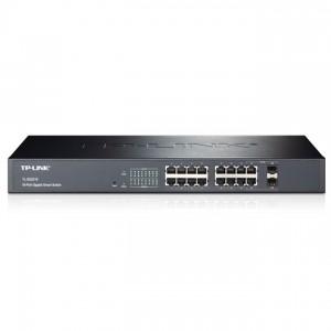 TP-Link TL-SG3216 JetStream™ Switch (L2 Lite Menedzsment; 10/100/1000Mbps, 16 port + 2 port combo SFP)