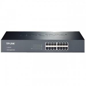 TP-Link TL-SG1016 Switch (10/100/1000Mbps, 16 port, fém házas, rackbe szerelhető)