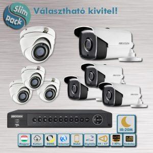 SLIM PACK - Brill Hikvision 3MP Full HD 20m éjjellátó HD-TVI kamera rendszer