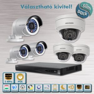 SLIM PACK - Tuning Hikvision 5MP Full HD IP kamera rendszer