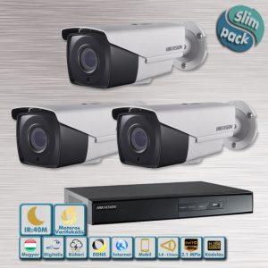 SLIM PACK - Küklopsz 2,1MP varifokális-motoros HD-TVI kamera rendszer