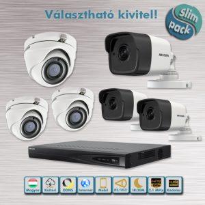 SLIM PACK - Mátrix 2,1MP HD-TVI kamera rendszer dome/cső kivitel