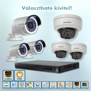 Hikvision Tuning 5MP ip kamera rendszer