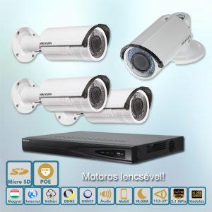 Viking Hikvision varifokális motoros 2,1MP IP kamera rendszer