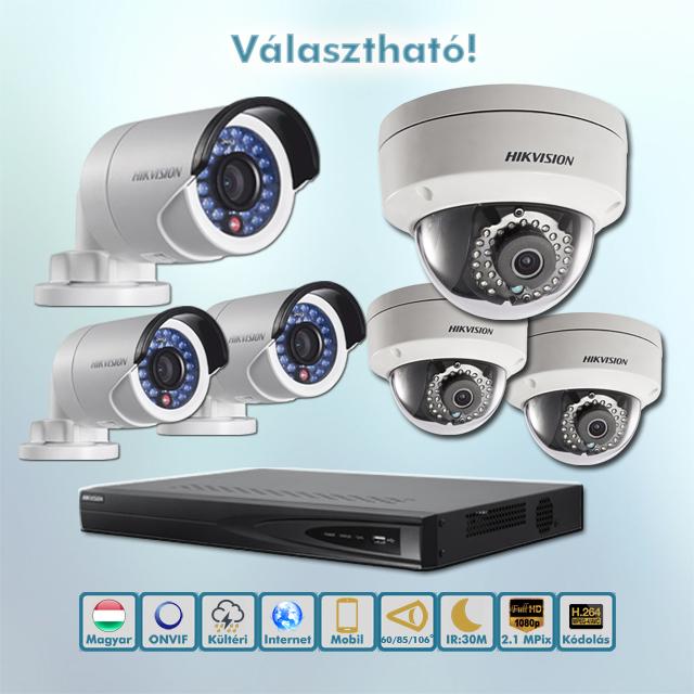 Hikvision belépő kültéri IP kamera rendszer