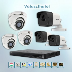Mátrix Hikvision 2,1MP Full HD HD-TVI kamera rendszer