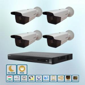 Hikvision Sarki fény 4MP ip kamera rendszer