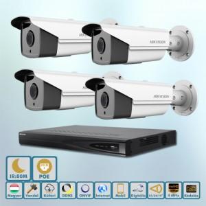 Hikvision POE Messzelátó 4MP ip kamera szett