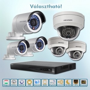 Hikvision POE Power 4MP ip kamera szett