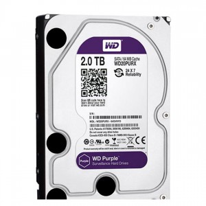 "Western Digital HDD WD20PURX 2TB 3,5"" Desktop 5400rpm, 64 MB puffer, SATA3 - Purple"