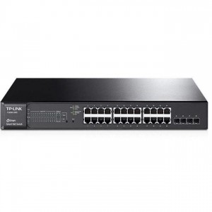 TP-Link T1600G-28PS JetStream PoE Switch (L2,L2+ menedzsment; 10/100/1000Mbps, 4port SFP; IPv6; 24 PoE+ port, 192W)