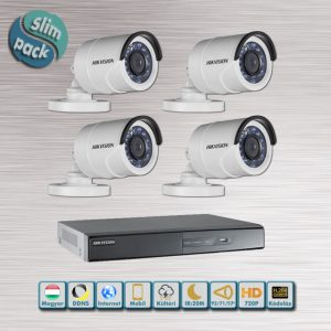 SLIM PACK - Hikvision 720P HD-TVI kamera rendszer