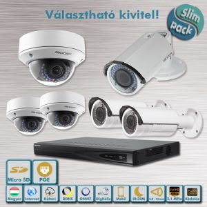SLIM PACK - Házőrző Hikvision 2,1MP Full HD IP kamera rendszer