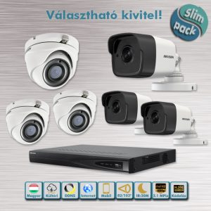 SLIM PACK - Mátrix 2,1MP HD-TVI kamera rendszer dome/cső kivitel