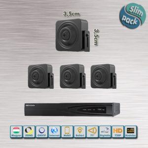 SLIM PACK - Kaméleon Hikvision rejtett 720P HD IP kamera rendszer