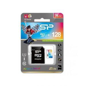 Silicon Power Elite microSDXC UHS-1 128GB kártya adapterrel Színes