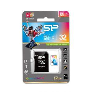 Silicon Power MicroSD kártya Adapterrel HC UHS-1 32GB Elite, Színes