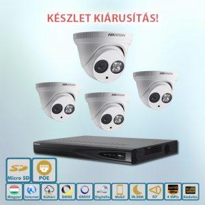 Hikvision NAGY Fogás 4MP ip kamerarendszer